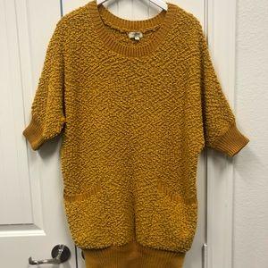 Umgee Sherpa-style  Mustard Sweater - Sz. L